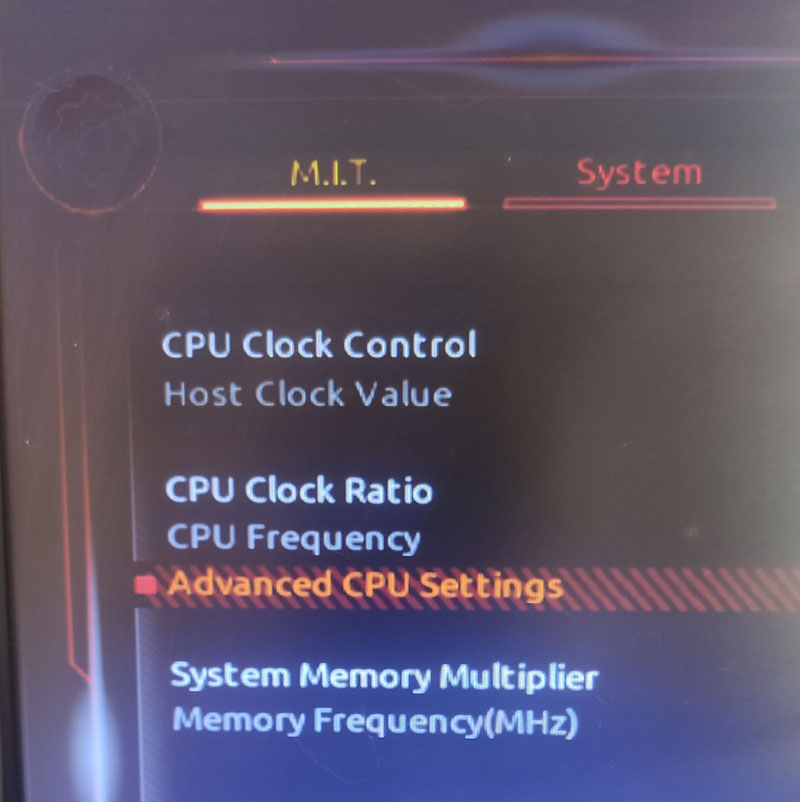 Advanced CPU Settings