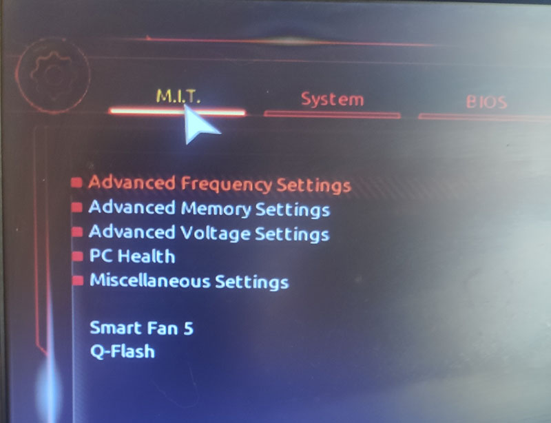 Advanced Frequency Settings